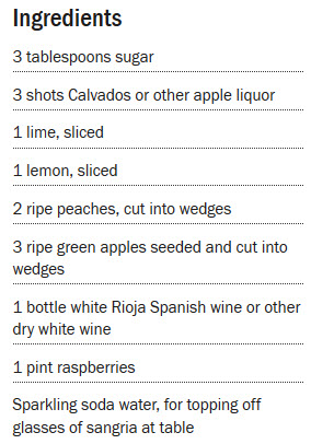 White Sangria Recipe - courtesy of www.foodnetwork.com/recipes/rachael-ray/white-sangria-recipe-1940539