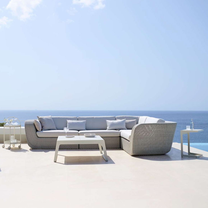 NEW Savannah White Collection   Savannah lounge group is designed by Foersom & Hiort-Lorenzen. The Savannah outdoor lounge group contains 4 modular elements. The modules can be combined in countless ways.   Click to shop this collection .