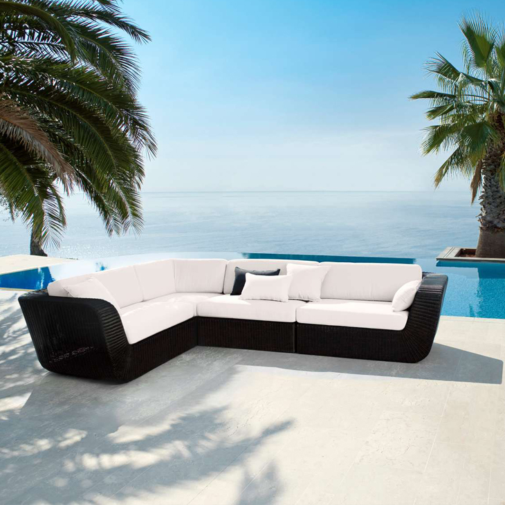 NEW Savannah Black Collection   Savannah lounge group is designed by Foersom & Hiort-Lorenzen. The Savannah outdoor lounge group contains 4 modular elements. The modules can be combined in countless ways.   Click to shop this collection.