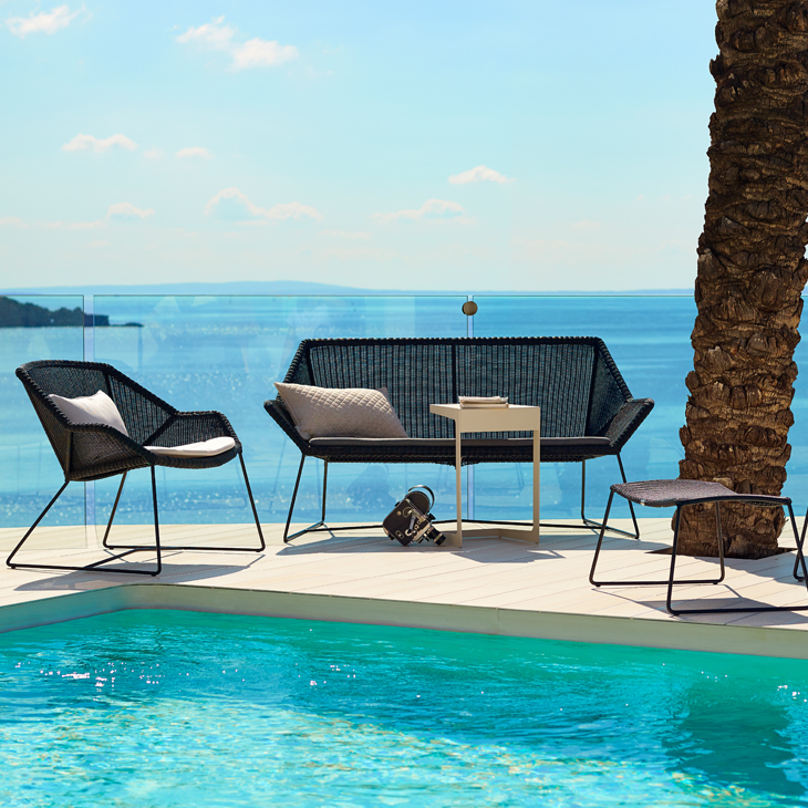 NEW Breeze Black Collection   Designed by Strand+Hvass.   Click to shop this Collection.    Dining collection also available.