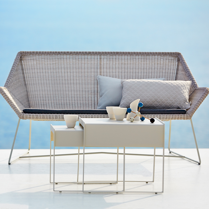 NEW Breeze White Collection   The Breeze collection from designers Strand+Hvass is one of the latest groups formed in collaboration between Cane-line and a renowned design studio.   Click to shop this Collection.    Dining collection also available.