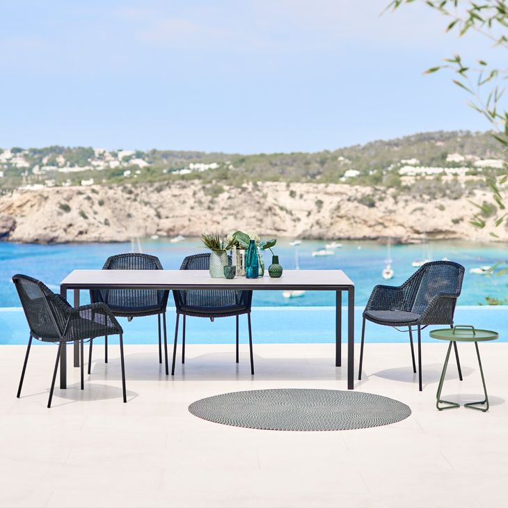 NEW Breeze Dining Collection in Black   Designed by the dynamic Danish duo STRAND+HVASS. TheBreeze Collection combines beautiful and elegant lines with great comfort and requires a minimum of maintenance.   Click to shop this collection.    Lounge collection also available.