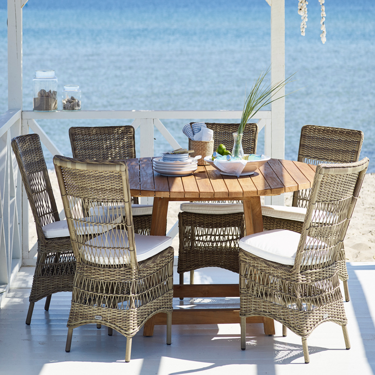 NEW Tahiti DIning Collection   Luxury rattan.   Click to shop this collection.    Lounge collection also available