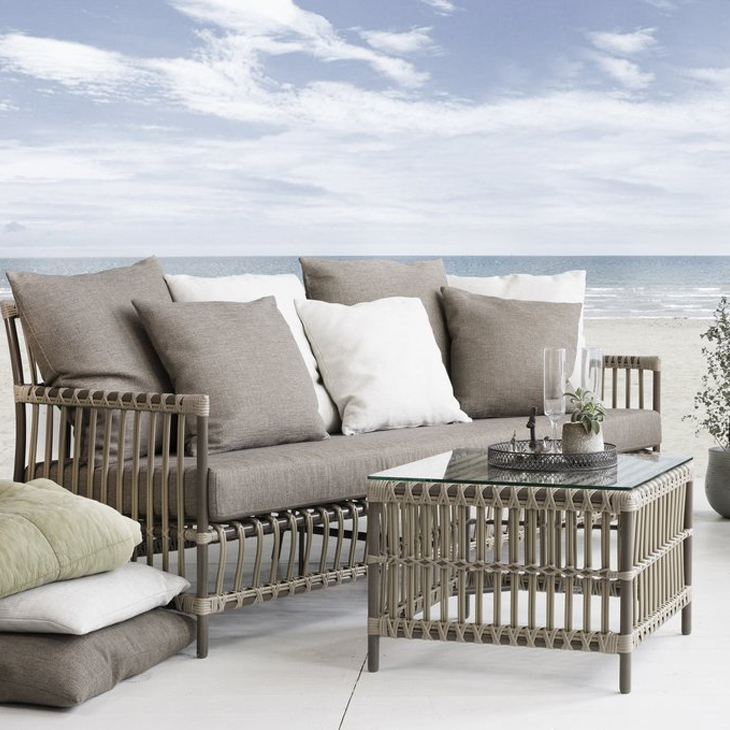 NEW Dominica Lounge Collection   Luxury rattan.   Click to shop this collection .   Pair with St. Lucia Dining Collection.