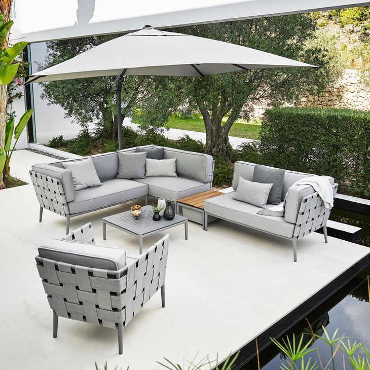 NEW Conic Light Grey Collection   The feel of indoor furniture outdoors.   Click to shop this collection.    Pair with Moments Dining collection.