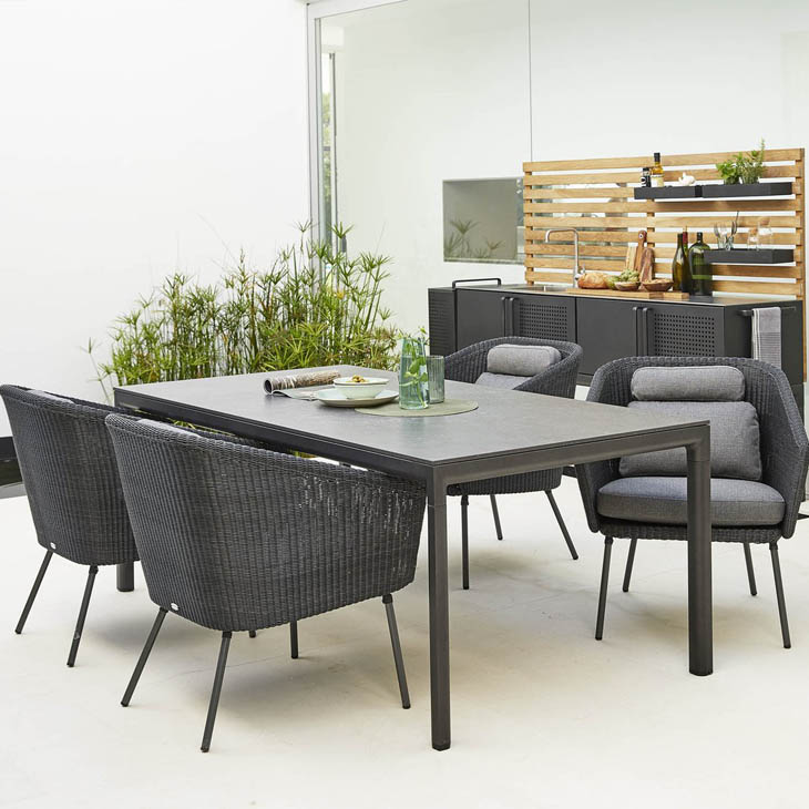 NEW Mega Dining Collection   A modern statement in dining.   Click to shop this collection .   Lounge collection also available.