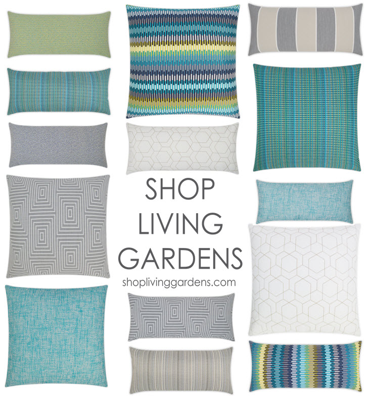 ocean collection outdoor pillow imagery