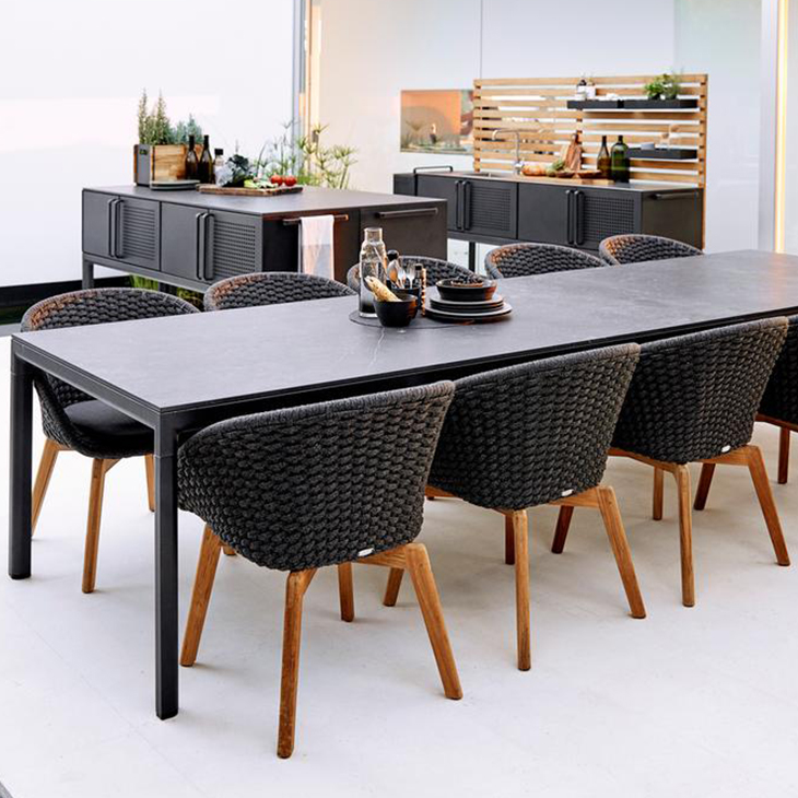 NEW Drop Dining Collection   Outdoor kitchen and dining concept.   Click to shop this collection.