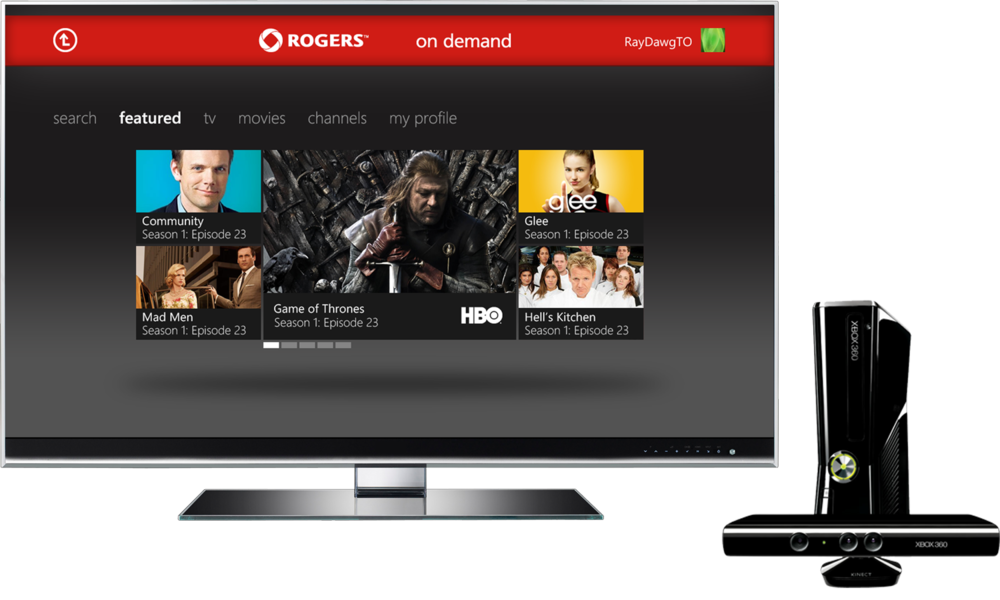 Rogers On Demand for XBOX Kinect