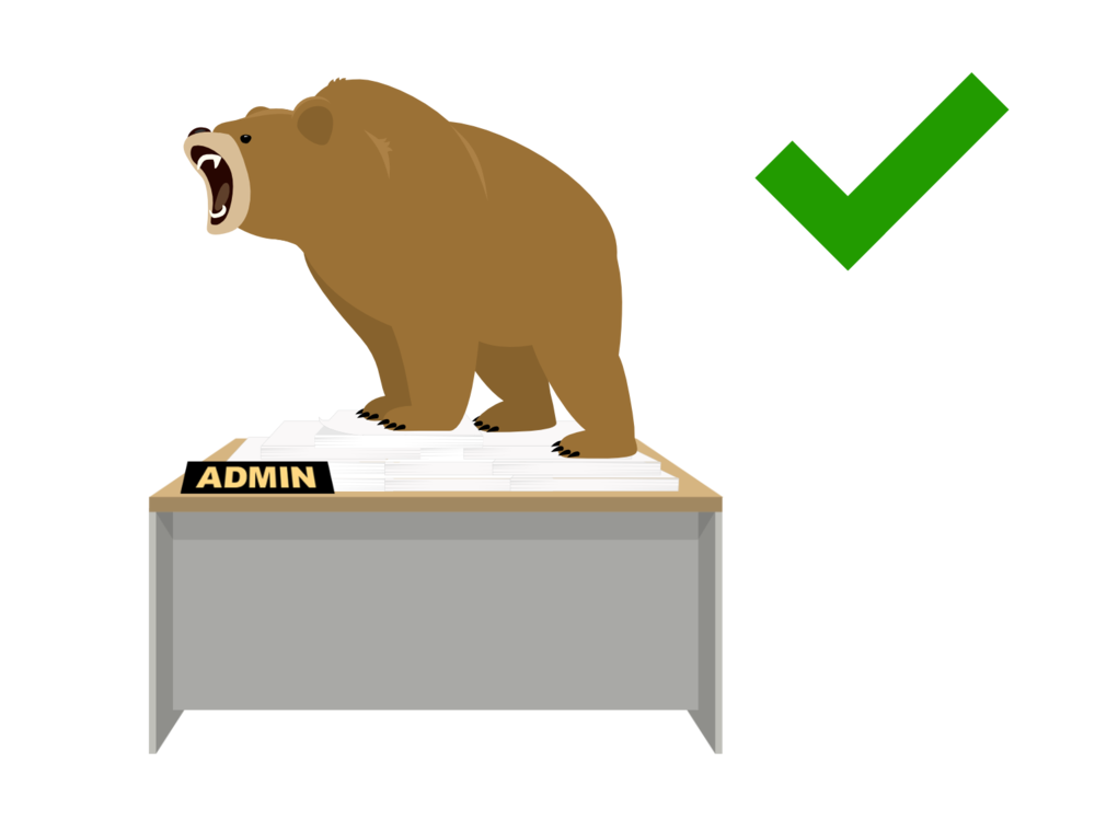 Admin bear was a roaring success