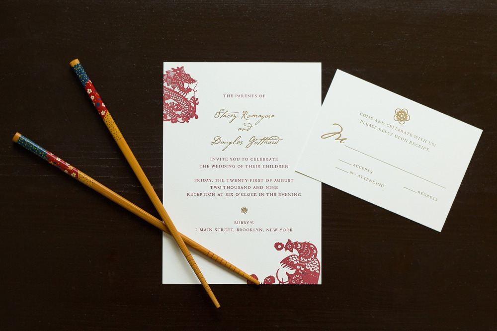 Stacey and Douglas   Printing Method:  Letterpress / Design can be offset printed  Paper:   Strathmore Natural White