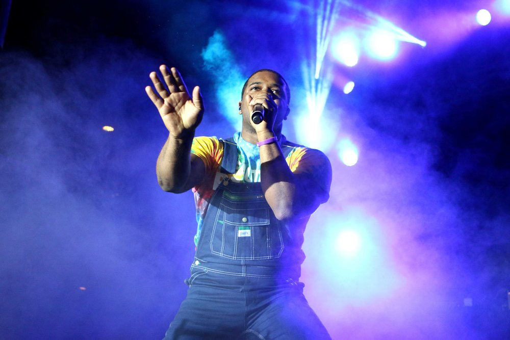 New York City rapper ASAP Ferg performs at Neon Desert Music Festival in downtown El Paso, Texas on May 30, 2016.