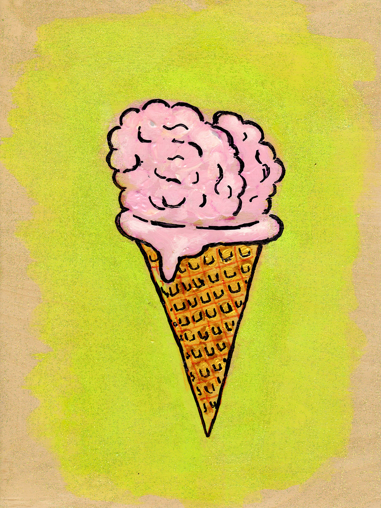 7/1/13 -  Brain Freeze.    My mind on warm days. Also, I want ice cream.   Buy it here -  http://taylorwinder.bigcartel.com    Prints here -  http://society6.com/taylorwinder