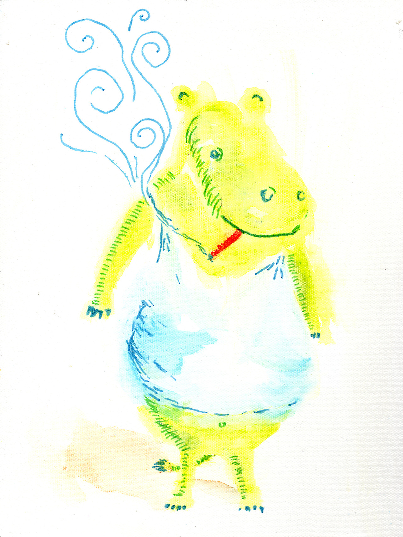 7/7/13 -  Perry the Nopantsopotamus.    Because, really, why would a hippopotamus wear pants?   Buy it here -  http://taylorwinder.bigcartel.com    Prints of it here -  http://society6.com/taylorwinder