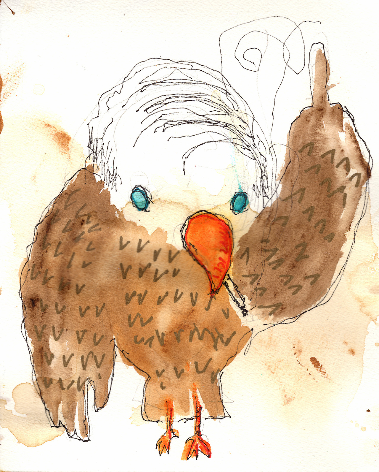 7/25/13 -  Larry the Combover Eagle.     It's a foggy, brain-hurty kind of morning.     Buy it here -  http://taylorwinder.bigcartel.com     Prints of it here -  http://society6.com/taylorwinder