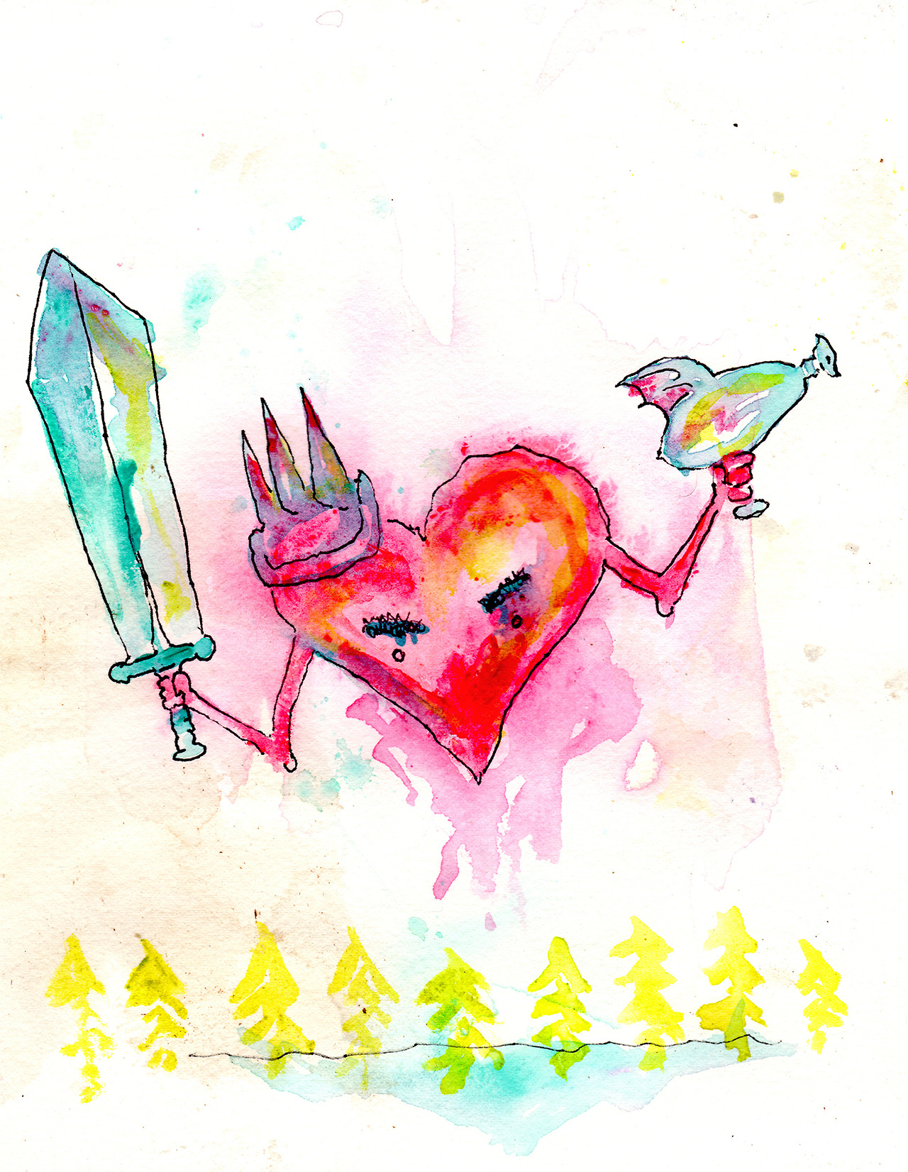 10/11/13 -  The Attack Heart.    Happy Friday, everyone. I'm part of a show that's opening tonight at Revolutions Coffee in Seattle. I hope to see you all there.    Buy this piece here -  http://taylorwinder.bigcartel.com    SOLD.    Prints of it here -  http://society6.com/taylorwinder