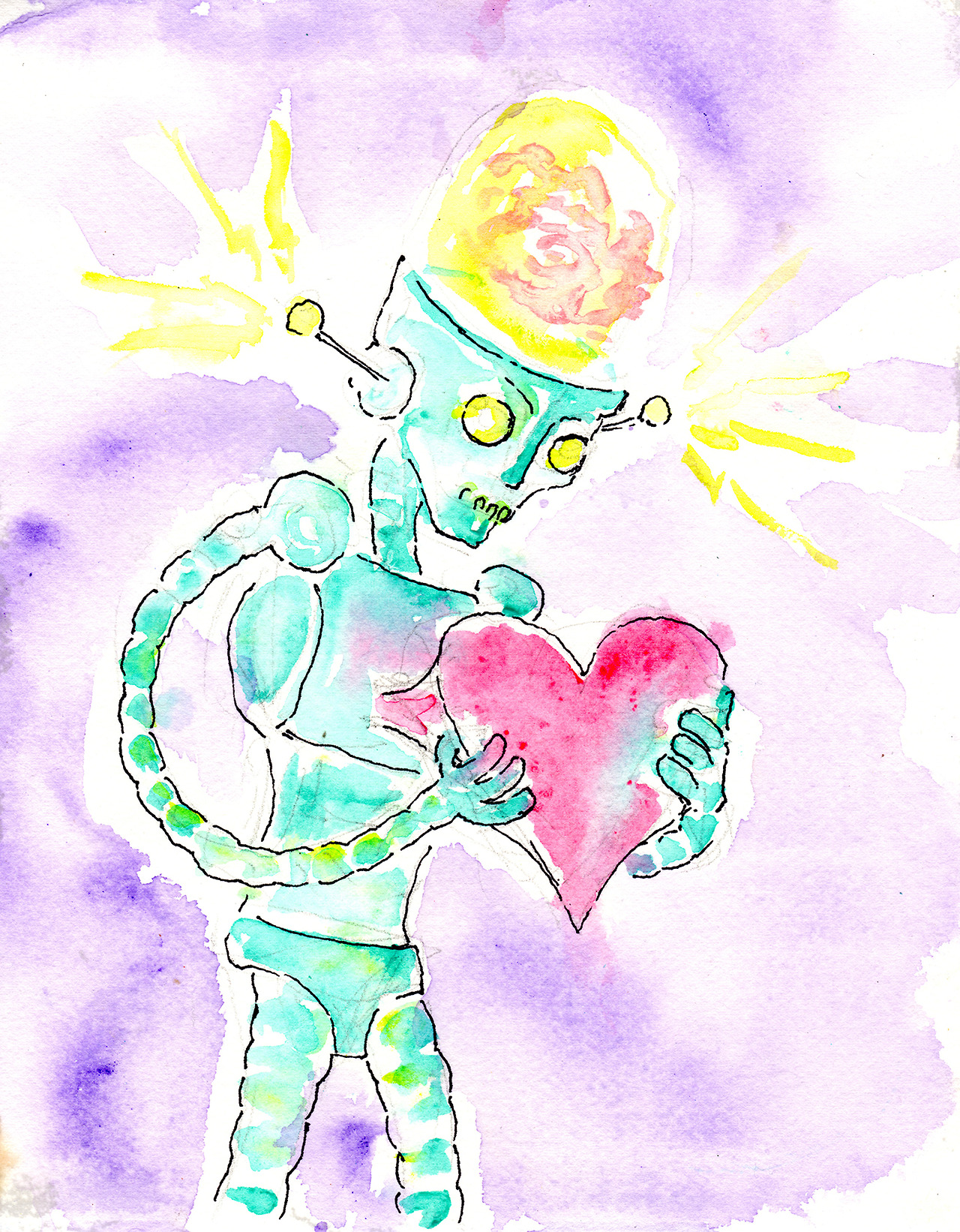 10/14/13 -  Brain Forces the Love Back Inside .   Some days the brain might even win.   Buy it here:  http://taylorwinder.bigcartel.com    Prints here:  http://society6.com/taylorwinder
