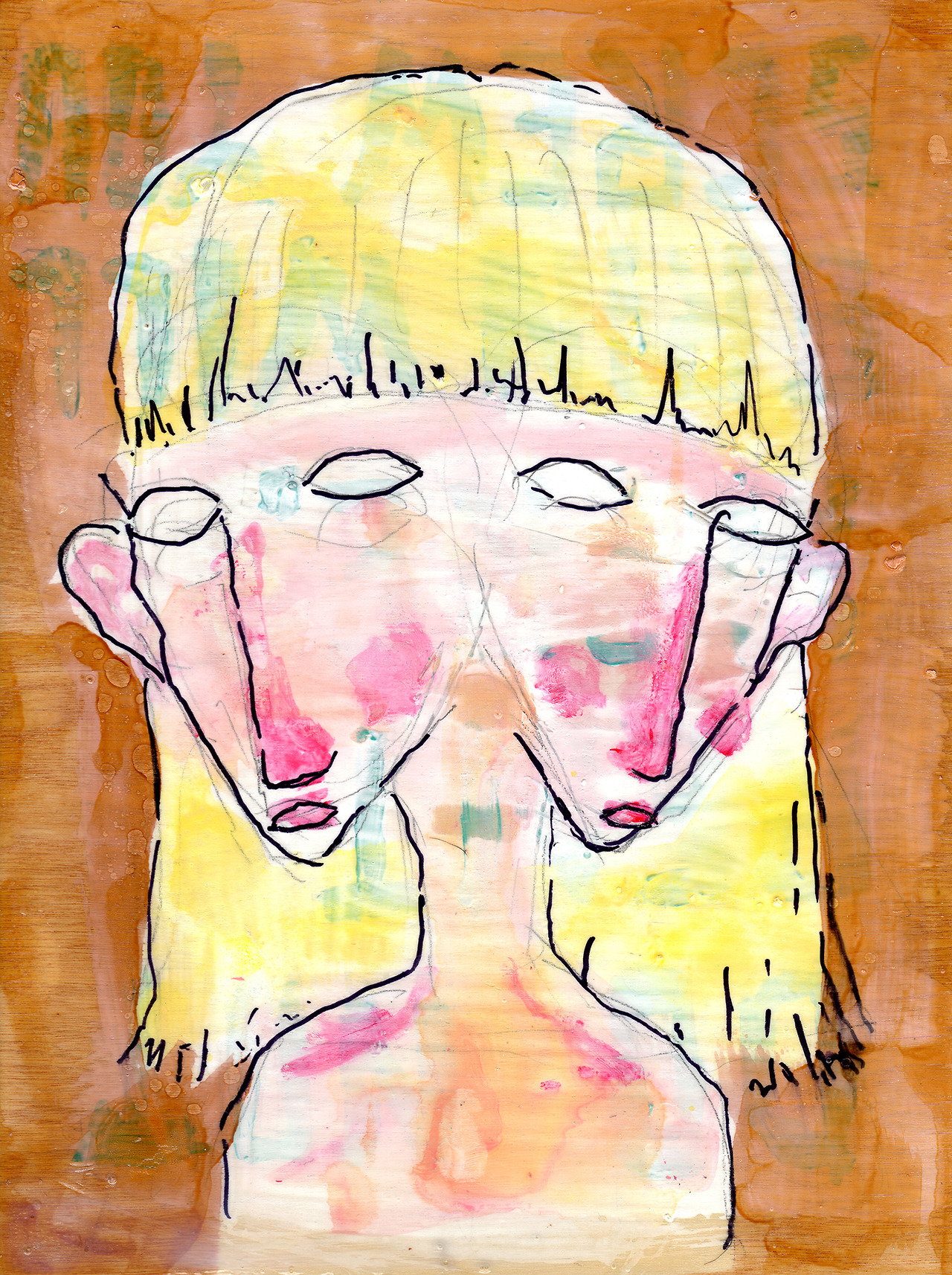 10/24/13 -  Doublefaced Duella.    Yeah, not sure what to say about this one. Started sketching on top of an old, unfinished piece and this is what came out.   Buy it here -  http://taylorwinder.bigcartel.com    Prints here -  http://society6.com/taylorwinder