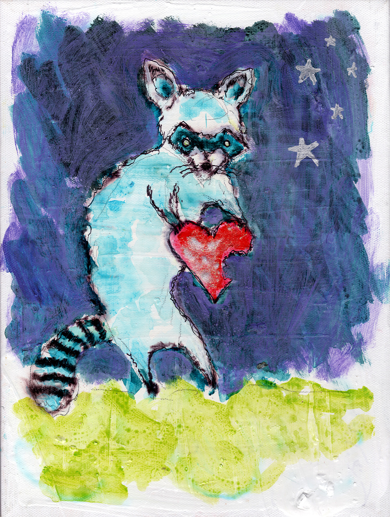 11/10/13 -  The Garbage Eater.    Raccoons will eat anything.   Kickstarter - http://www.kickstarter.com/projects/taylorwinder/the-art-book-of-the-year