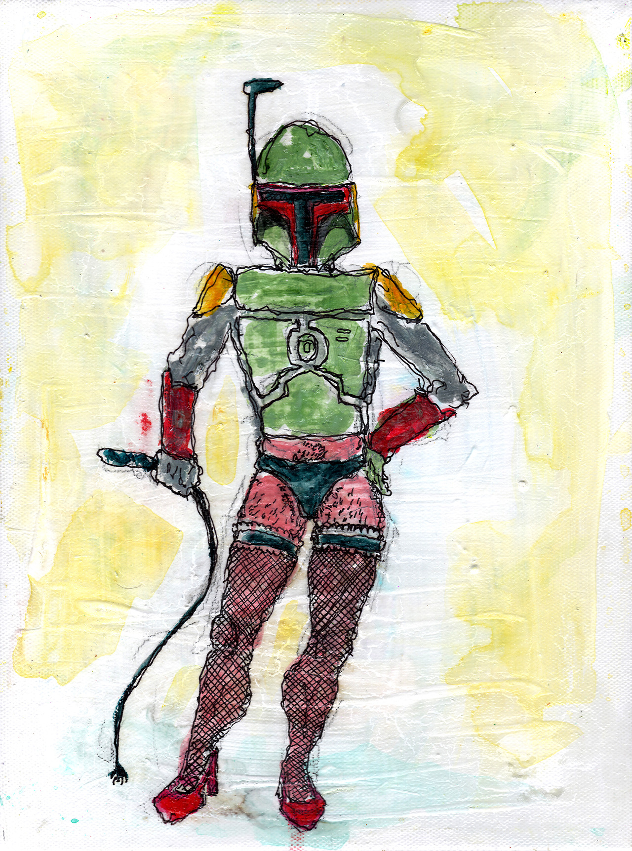 11/14/13 - Boba Fett Ish. Ish. http://www.kickstarter.com/projects/taylorwinder/the-art-book-of-the-year