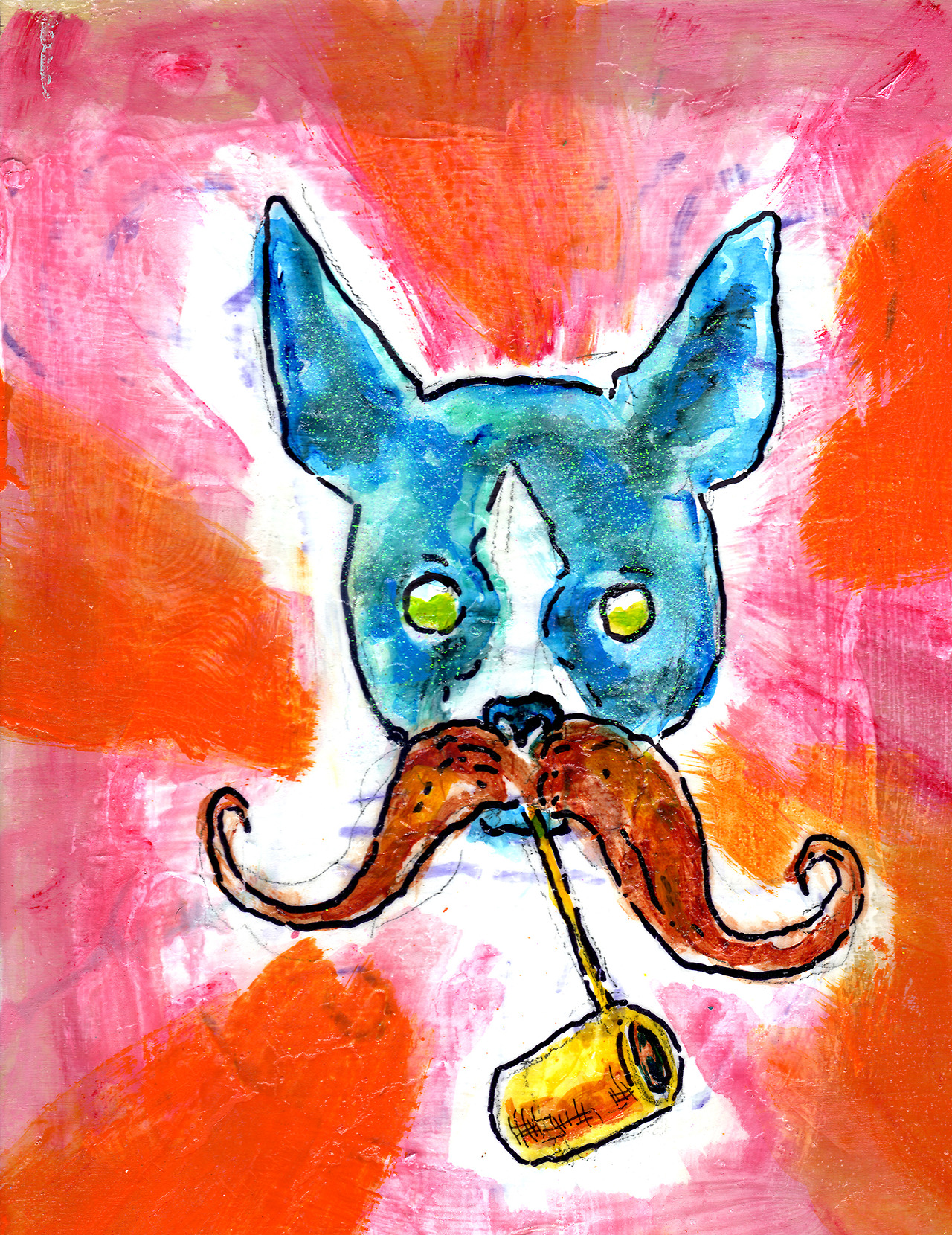 11/19/13 -  Macho Moston Merrier.    Movember. Nacho Boston Terrier.   Kickstarter - http://www.kickstarter.com/projects/taylorwinder/the-art-book-of-the-year