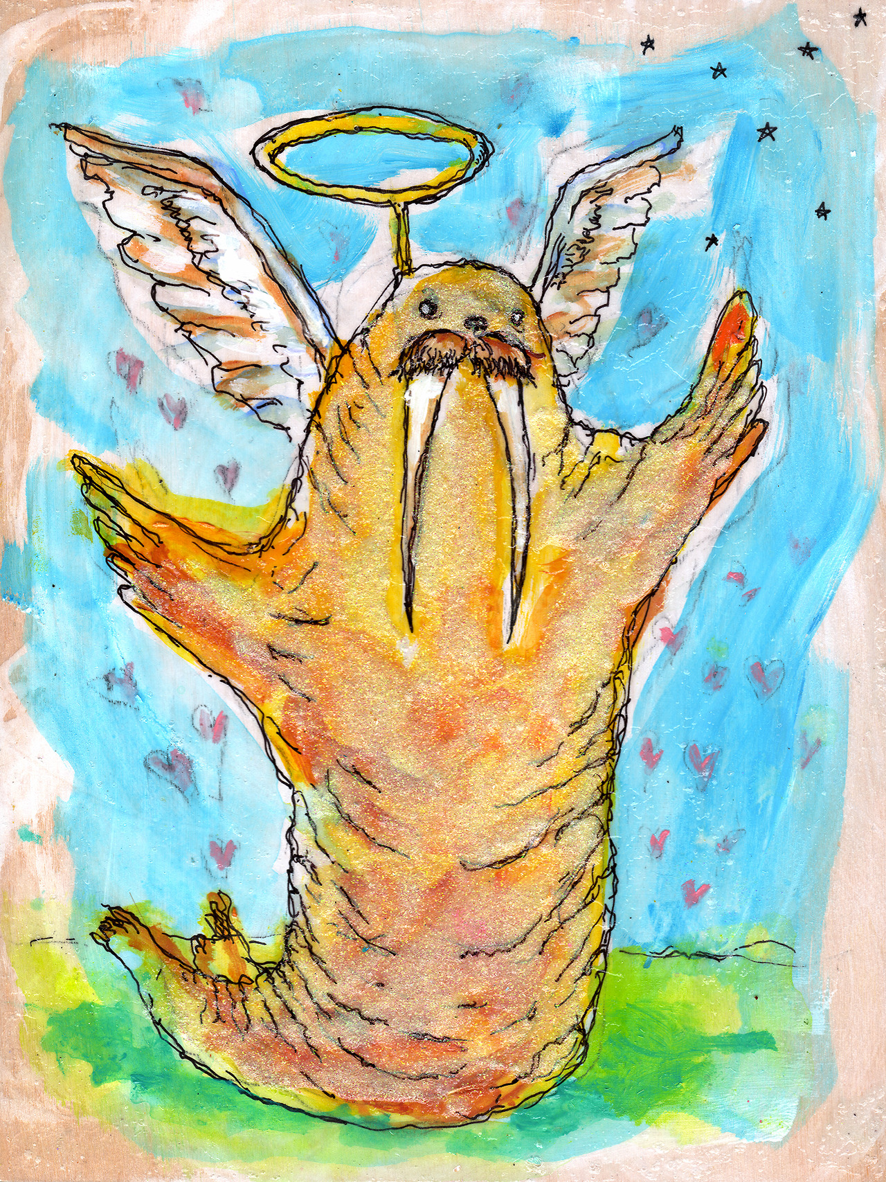 11/27/13 -  The Golden Calf.    It's the holidays. The time for glitter, gold, shopping, and walruses.   3 days left on the kickstarter - http://www.kickstarter.com/projects/taylorwinder/the-art-book-of-the-year