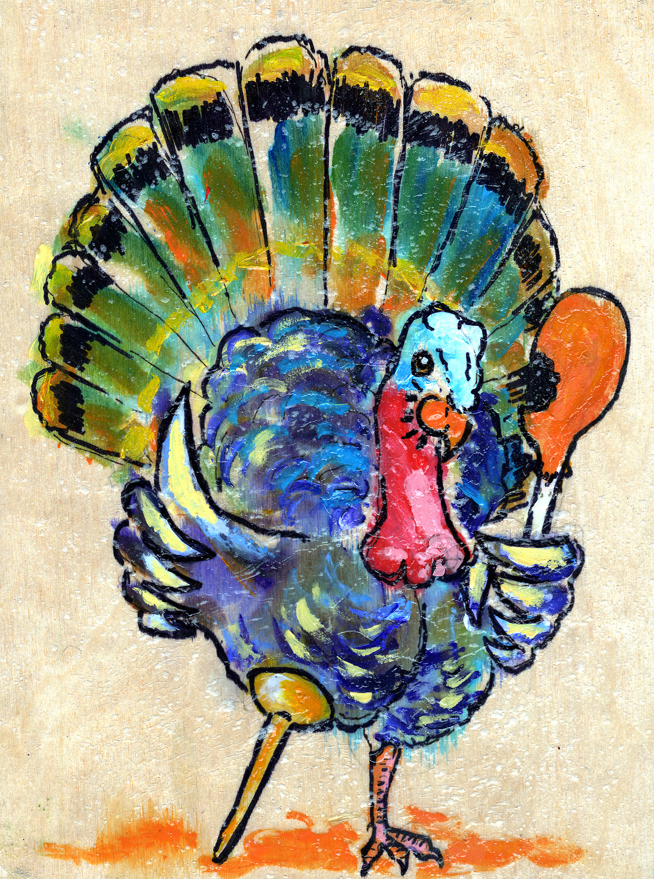 11/28/13 -  Gobbledygood.    Happy thanksgiving, everyone! Eat the bird before it eats itself.   Only about 60 hours left on my kickstarter! - http://www.kickstarter.com/projects/taylorwinder/the-art-book-of-the-year