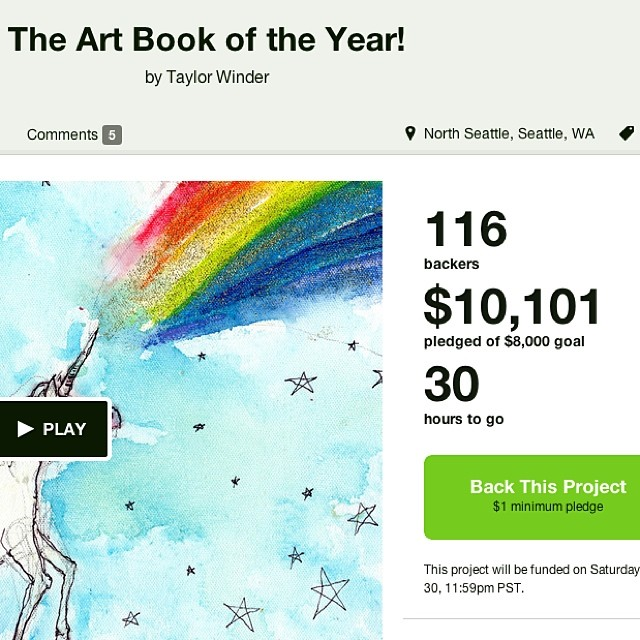 30 hours to go on my #art #book #kickstarter! Thank you all!