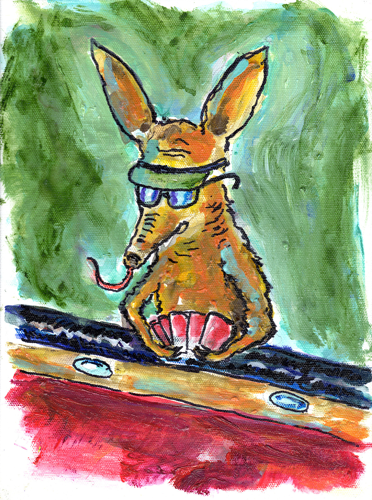 12/8/13 -  Aardvark Card Shark.        Can't read my, c  an't read my, n  o he can't read my poker face.     Buy it here -  http://taylorwinder.bigcartel.com      Prints here -  http://society6.com/taylorwinder
