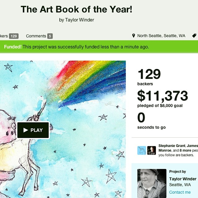 My #kickstarter is over! Thank you each and every one of you. I'm humbled.