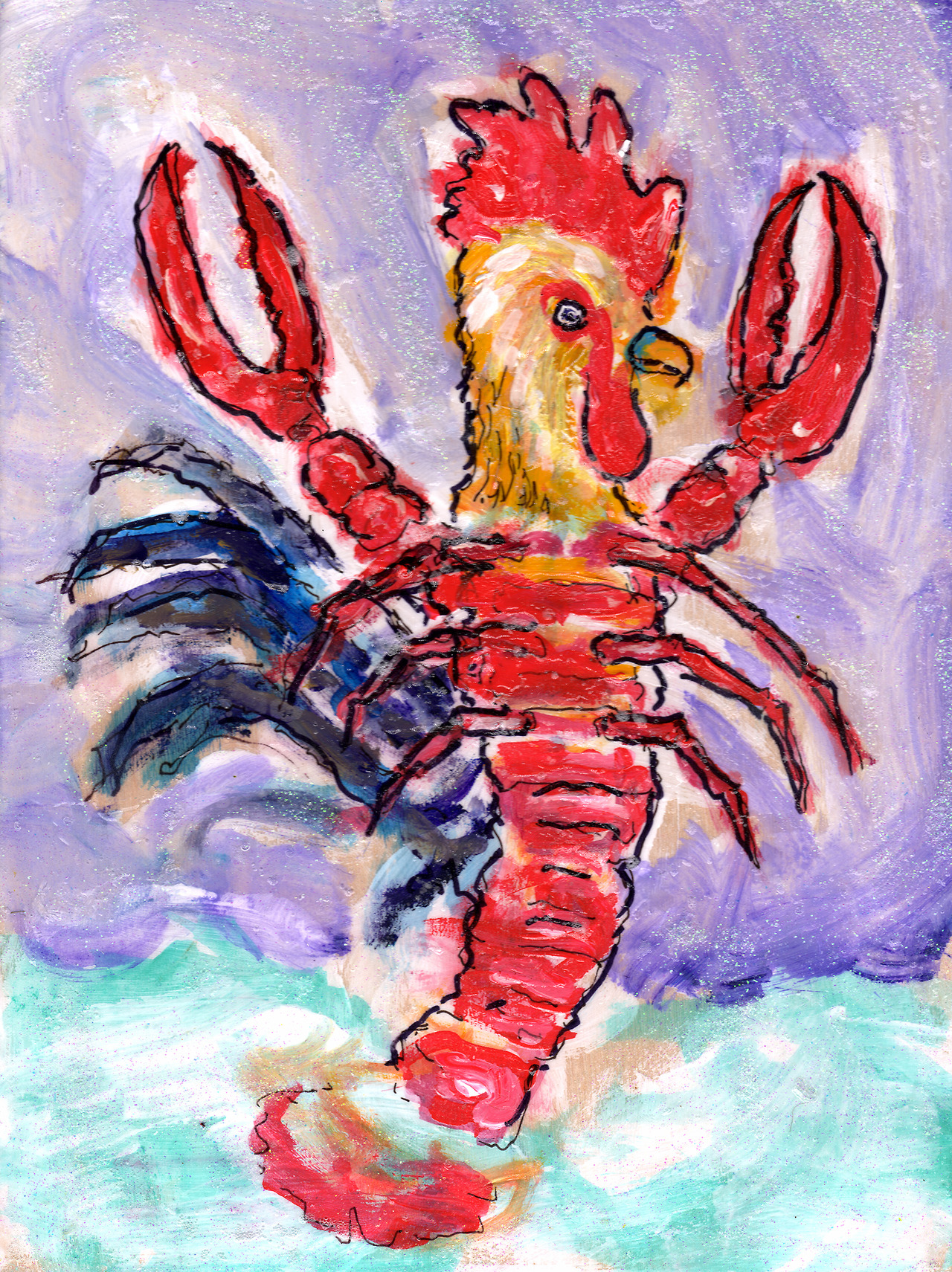 12/10/13 - Cock Lobster. Yeah, I was listening to the B-52s. Anyway, the seas were rough that day, my friend. Rough indeed. Buy it here - http://taylorwinder.bigcartel.com Prints here - http://society6.com/taylorwinder