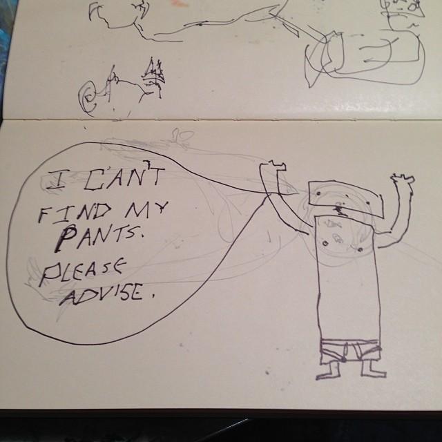 Serious sketching.