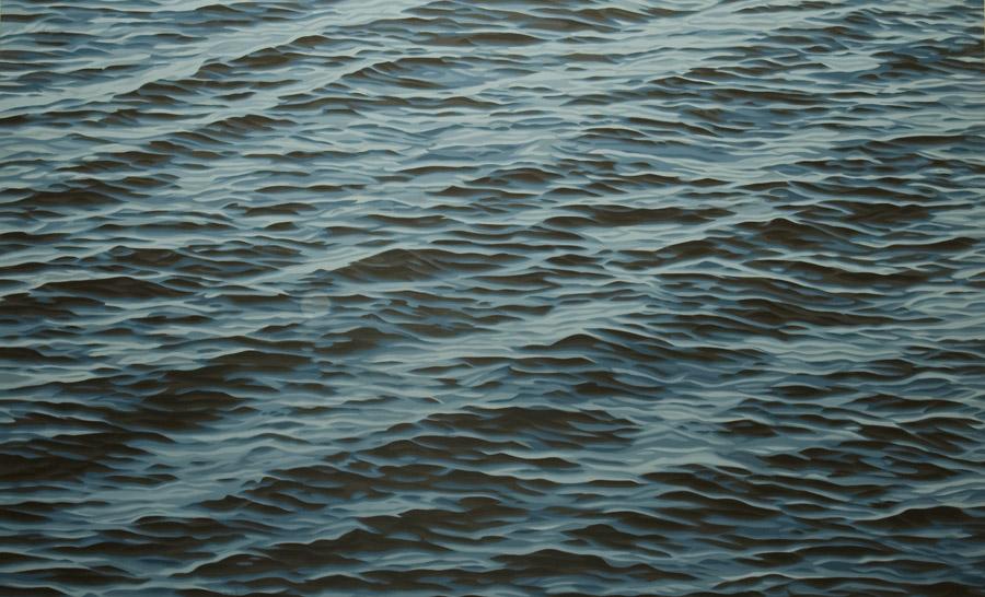 "Fifteen (step), 2003, acrylic on panel, 48 x 78"""