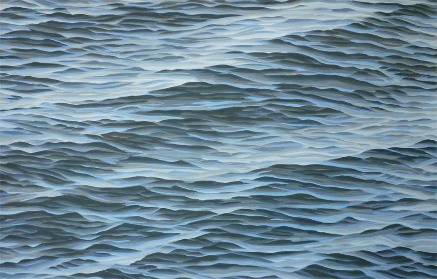 "Nineteen (filter), 2004, gouache on paper, 26 x 40"""
