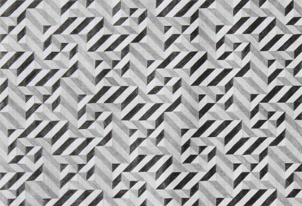 seven, 2007, graphite on paper, 6.25 x 9 inches