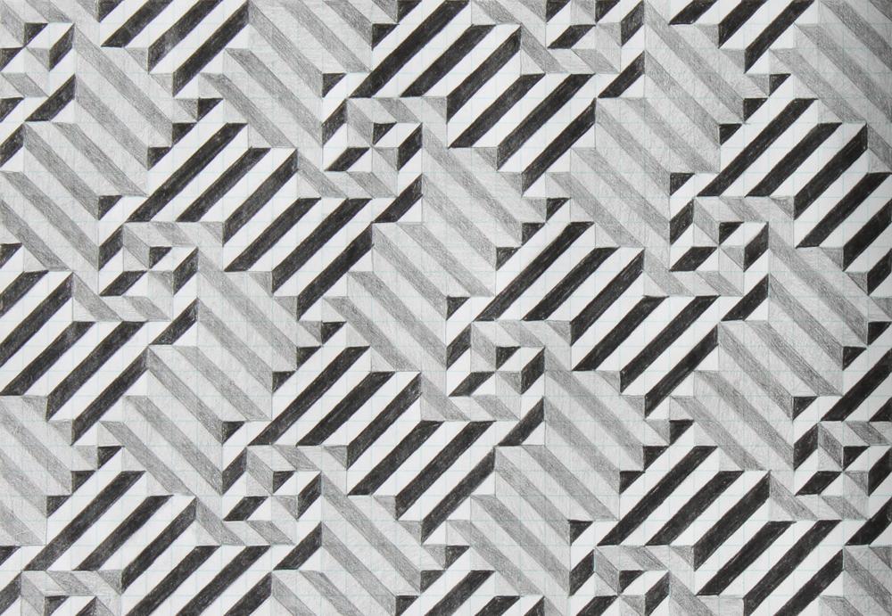 eleven, 2007, graphite on paper, 6.25 x 9 inches