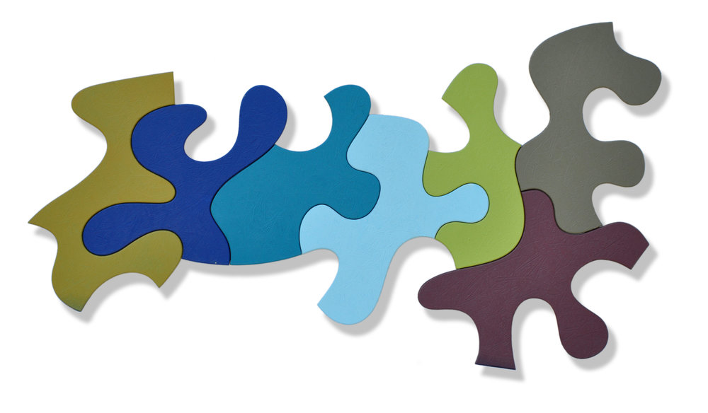 An Even Greater Selection (67), 1995-2010, acrylic, 25 x 45 inches, 7 pieces