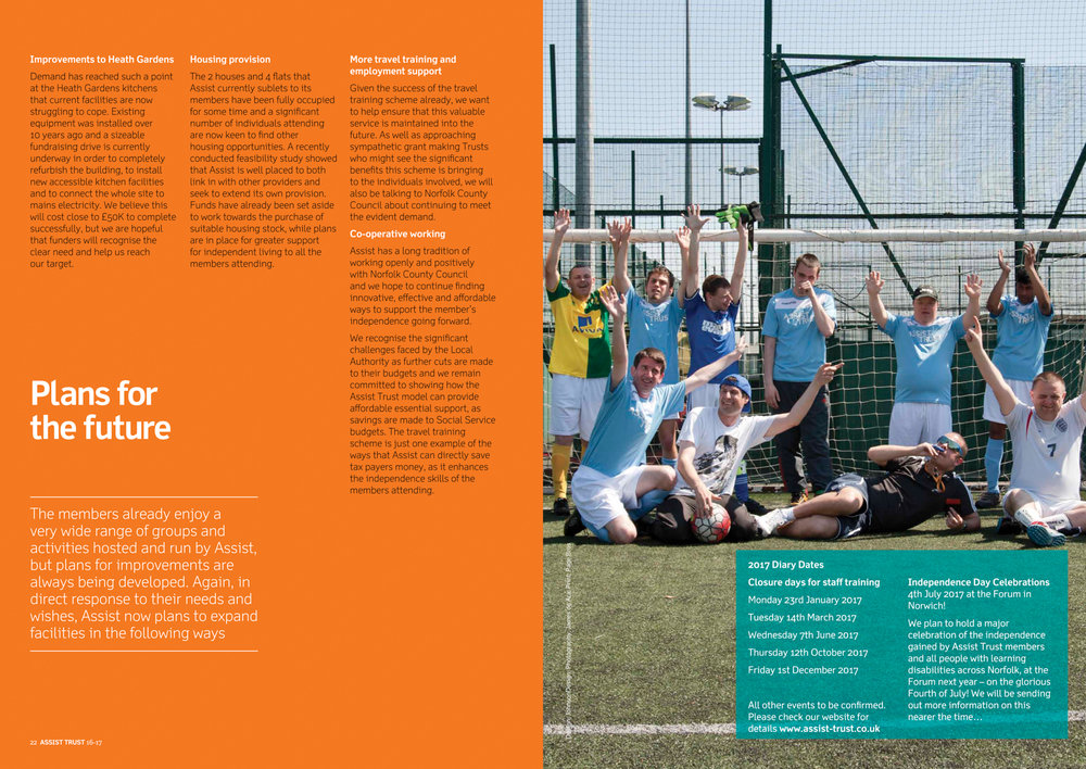 Assist Trust Annual Review (layout by Johnson Design)