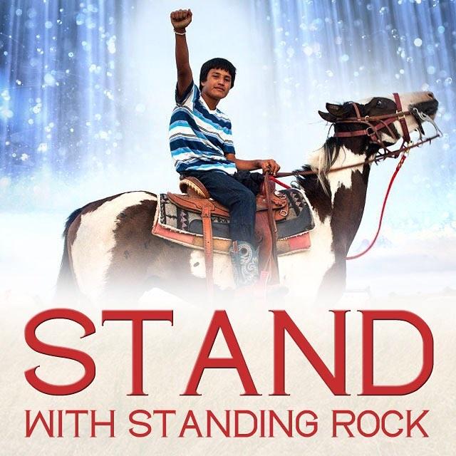 We stand with Standing Rock. #NoDAPL #MniWiconi #dakotaaccesspipeline @shailenewoodley @hilaryclinton @leonardodicaprio @markruffalo @chrishemsworth @nbcnews @msnbc @foxnews