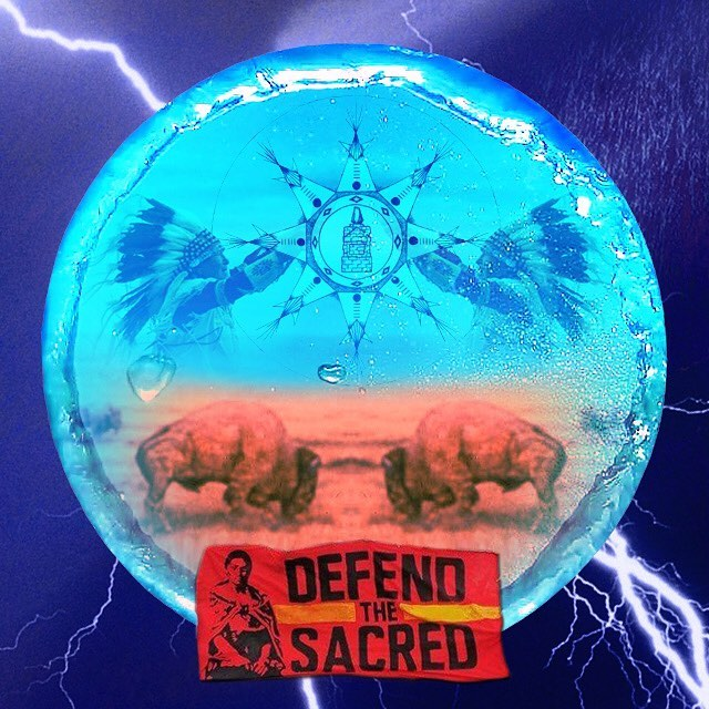 Defend the sacred. When you see the buffalo, you will know that nature has spoken. #StandingRock #NoDAPL #MniWiconi #dakotaaccesspipeline @shailenewoodley @hilaryclinton @leonardodicaprio @markruffalo @chrishemsworth @nbcnews @msnbc @foxnews