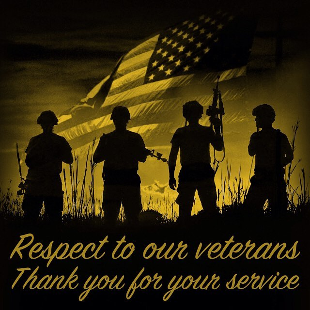Respect to our #veterans. Thank you for your service.  #veteransday #veteransday2016 #menwhoserve #womenwhoserve #godblessamerica #usmarines #usarmy #usnavy #usmilitary