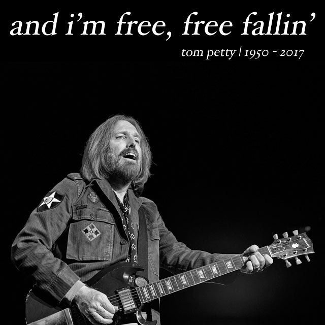 Hell of a ride, what a hell of a ride. RIP Tom Petty. #riptompetty #tompetty #freefallin #legend