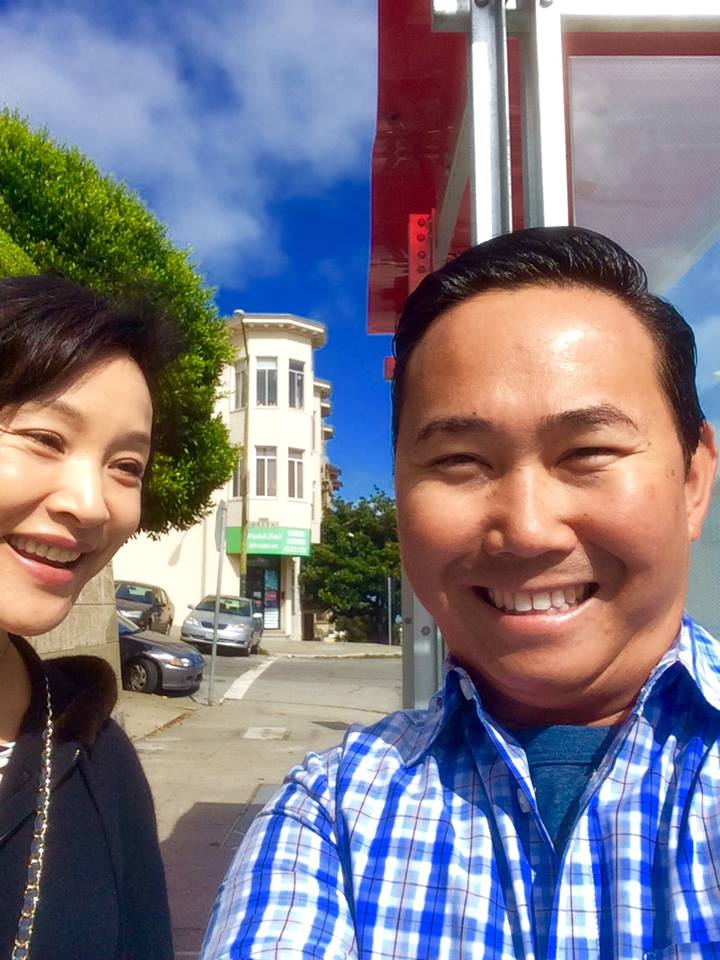 Actress Joan Chen and I
