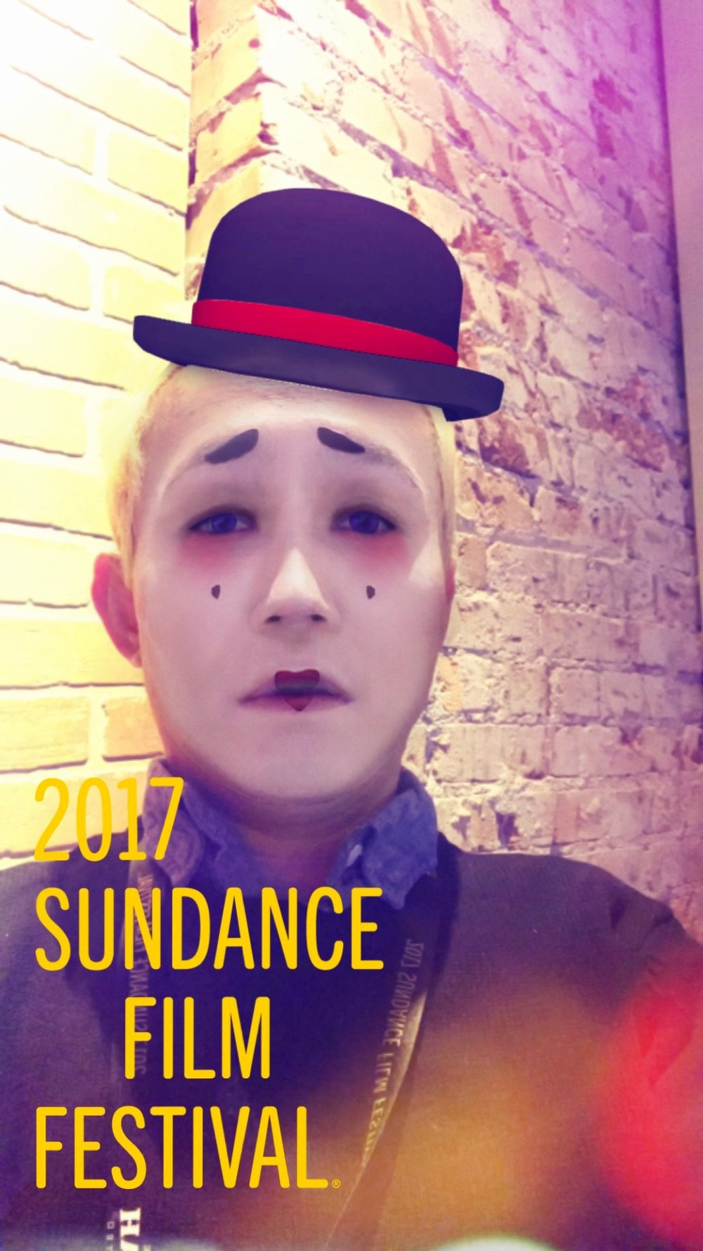 How I felt on my Last Day at Sundance #sadclown #sundance #snapchat