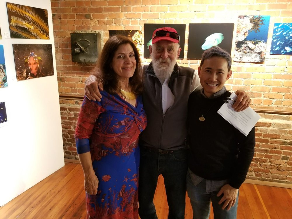 Laura Wais (Fellow Artist), Zach Stewart (Canessa Gallery Owner) and Me