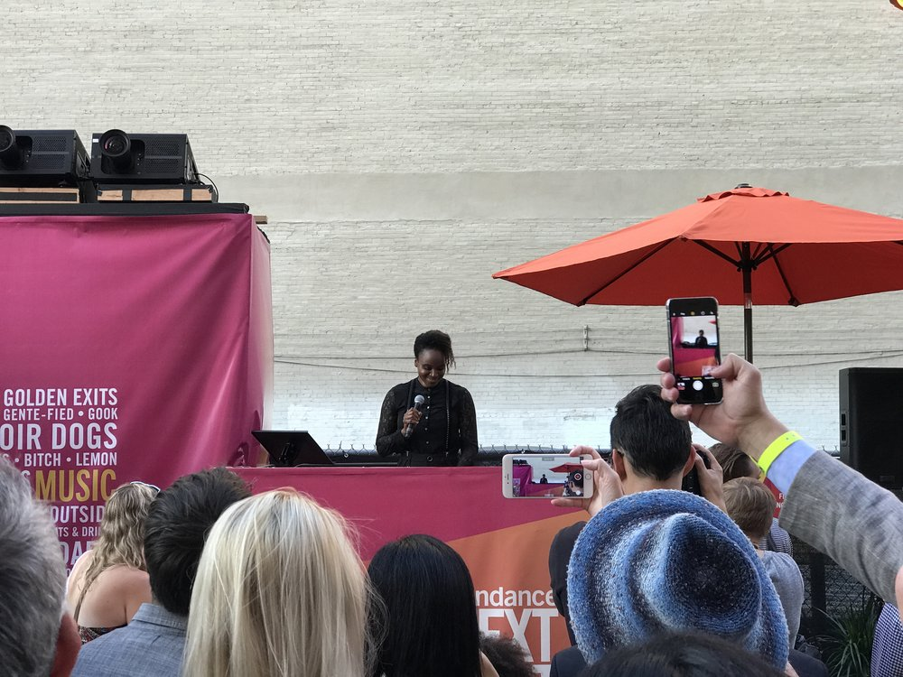 Dee Rees - accepting the Vanguard Award at Next Fest 2017