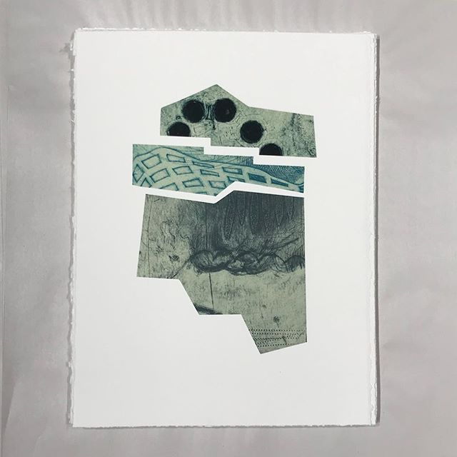 "Packing up my funny little print for the #sgci2018 conference portfolio: ""Mapping Invisible Landscapes"". I won't get to be there this year and I am already missing all my print buddies!"
