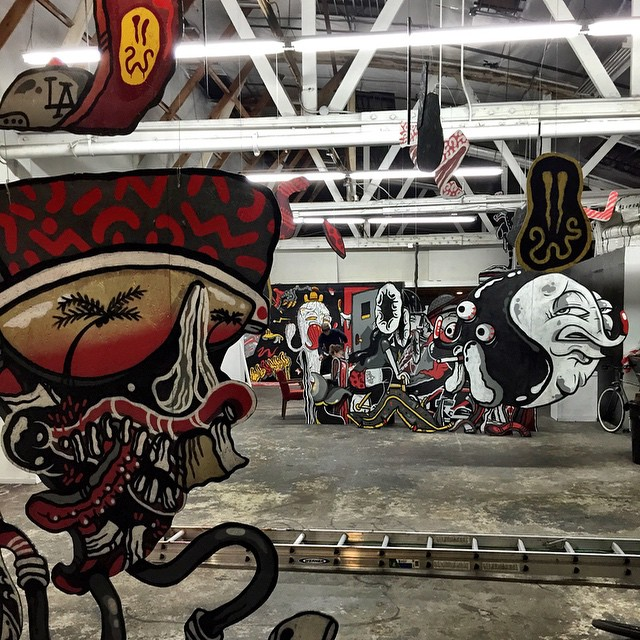 Checking out @spacecandy x @_theyok DTLA takeover at @superchieftv -- Keep an eye out for their WeBRAND collection launching next Monday!
