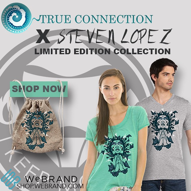 Happy Monday! New collection just released at shop.webrand.com designed by @ikeepmoving and inspired by/benefitting @true2connection #shopnow #ArtHeals #LimitedEdition