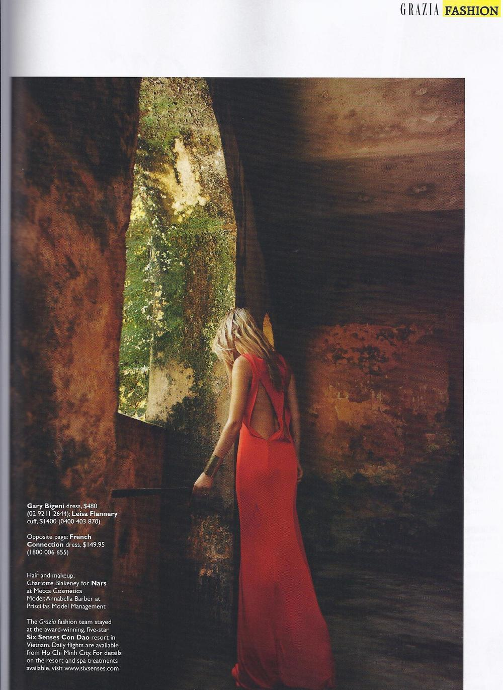 Grazia November 7, 2011 featuring the Queen of the Nile cuff.jpg